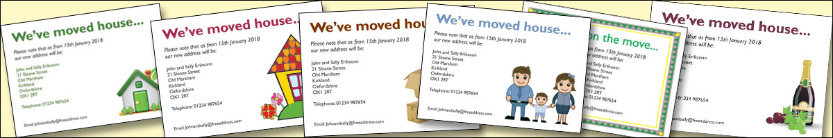 Change of address cards- Moving House? Let everyone know with our change of address cards