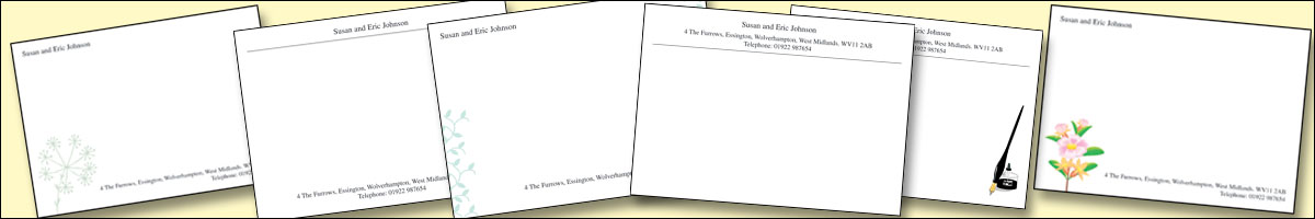 Printed Correspondence cards - keep in touch with everyone with inexpensive correspondence cards