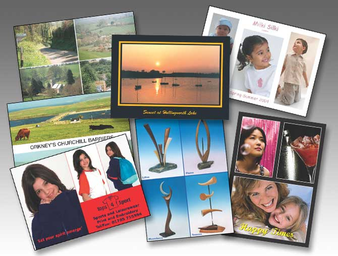 Full Colour Printed Postcards printed from your own images or artwork